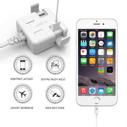 1byone New 4 Charging Ports Multiple USB Travel Wall Charger