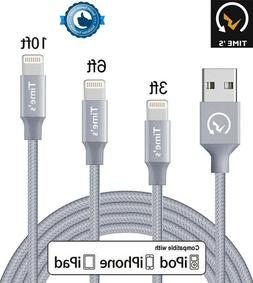 New Apple Lightning Cable Heavy Duty iPhone 8 7 Plus 6 XS Ch