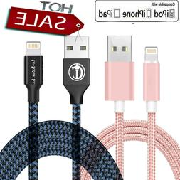 For iPhone USB Braided Charger Cable For iPhone 5 6 7 8 Plus