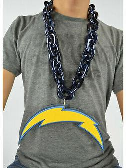 New NFL Los Angeles Chargers BLUE Fan Chain Necklace Foam Ma