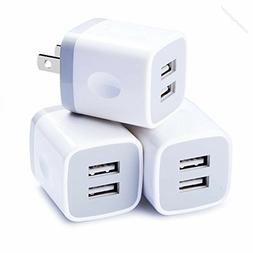 New Wall Charger Home Travel Dual Port Charging Block iPhone