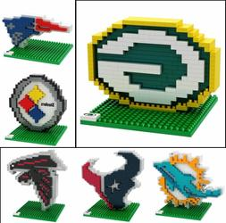 NFL Football 3D BRXLZ Team Logo Puzzle Construction Block Se