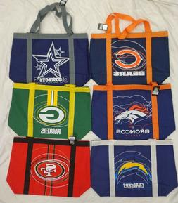 NFL Little Earth Duffle Style Team Tailgate canvas Tote Bag