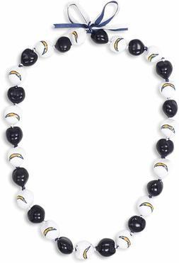 NFL Los Angeles Chargers 30 Kukui Nut Bead Necklace