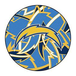 NFL Los Angeles Chargers Rounded Non-Skid Mat Area Rug
