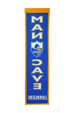Winning Streak NFL Los Angeles Chargers Man Cave Banner