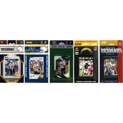 NFL San Diego Chargers Five Different Licensed Trading Card