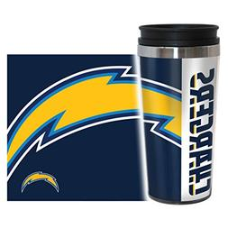 NFL San Diego Chargers Hype Travel Tumbler, 16-ounce, Blue