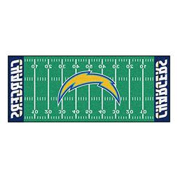 FANMATS NFL San Diego Chargers Nylon Face Football Field Run