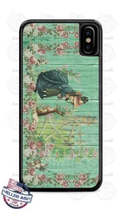 Nostalgic Bunny Rabbit with Girl Vintage Phone Case Cover Fo