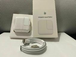 oem 12w charger and lightning cable