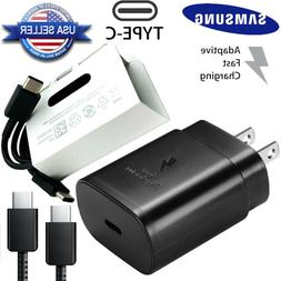 OEM 25W PD Fast Charger Dual USB Type-C Cable For Samsung No