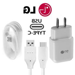 OEM ORIGINAL LG Rapid Fast Wall Charger + Type C Cable For L