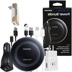 Official Samsung Fast Qi Wireless Pad - Power Bundle -for Ga