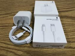 Brand New 18w USB-C Power Adapter Fast Charger Set For Apple