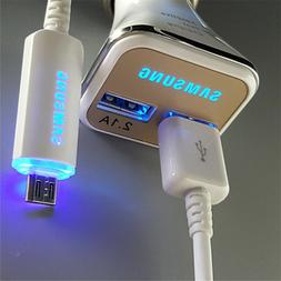 Original LED USB Cable Fast Car Charger For Samsung Galaxy N