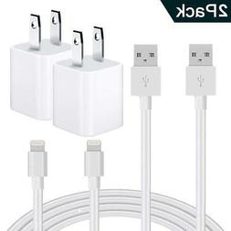 Pack of 2 Generic USB Wall Chargers with Cables for iPhone 5