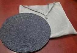 """Placemat Chargers Beaded 12"""" Round Set of 4"""