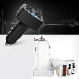 Portable 4 USB Chargers DC12V to 5V Car Chargers For IPhone
