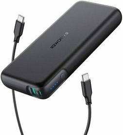 Portable Charger RAVPower 20000mAh 60W PD 3.0 USB C Power Ba
