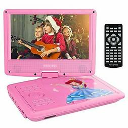 """DBPOWER 9"""" Portable DVD Player with Rechargeable Battery, Sw"""