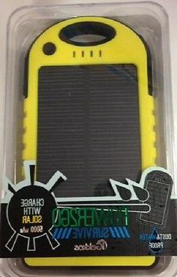 POWER2GO SURVIVE 5000mAh Solar Charger! DUST & WATER PROOF!