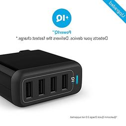 Anker PowerPort 4  Multi-Port USB Charger with Foldable Plug
