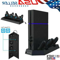 PS4 Cooling Station Vertical Stand with 2 Controller Chargin