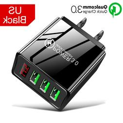 QC 3.0 Fast Quick Charge USB Hub Wall Charger Adapter US Plu