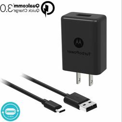 QC3.0 Motorola Turbo Power 15+ Type C to USB Charger for Mot