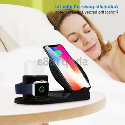 Qi Wireless 3 in 1 Fast Charger Pad Stand Dock For Apple Wat