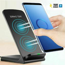 Qi Wireless Charger 10W 7.5W Fast Charging Dock Stand For iP