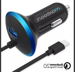Quick Charge 2.0 Car Charger, Maxboost 30W Dual Output USB -