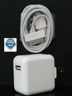 Rapid USB Wall Charger & 30 PIN Cable for iPad 1st 2nd & 3rd