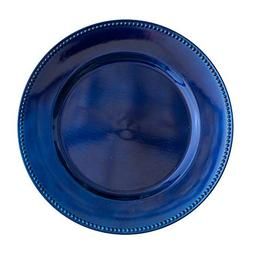 """Richland Charger Plate Beaded Round 13"""" Royal Blue Set of 12"""