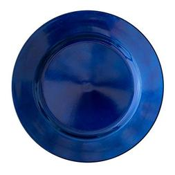"Richland Round Acrylic Charger Plates 13"" Royal Blue Set of"