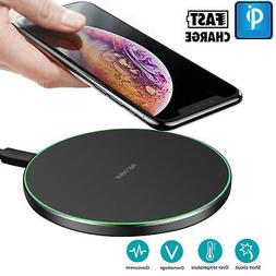 Qi Wireless Charger Fast Charging Pad For iPhone X 8 7 6 Sam