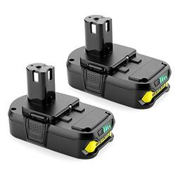 Powilling 2Pack 2500mAh Ryobi 18V Lithium Battery Pack Repla