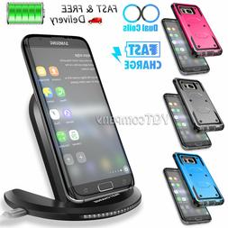 For Samsung Galaxy S6 Edge Plus Qi Fast Wireless Charger Cha