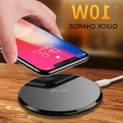 For Samsung iPhone X 10 Wireless Qi Cellphone Charger Cordle
