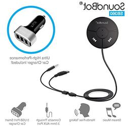 SoundBot SB360 Bluetooth 4.0 Car Kit Hands-Free Wireless Tal