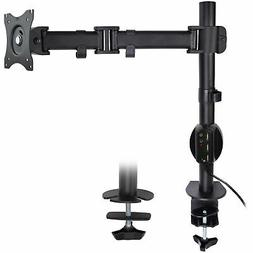 VIVO Single Monitor Arm Desk Mount Stand with Charger Dock |