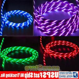 Smart LED Light Up Charging Charger Cable USB Cord F iPhone