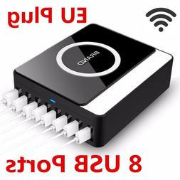 Smart Multiple Charger 8 USB Ports Wireless Phone Charger Ch