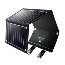 RAVPower Solar Charger 16W Panel with Dual USB Port Waterpro