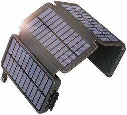 Solar Charger 25000mAh Power Bank with 4 Solar Panels Waterp
