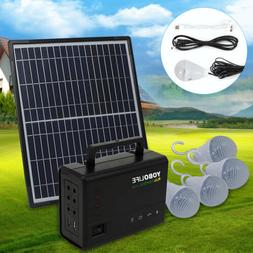 Solar Generator Lighting Home System Kit with Solar Panel LE