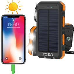 Solar Power Bank External Battery Charger For Apple iPhone X