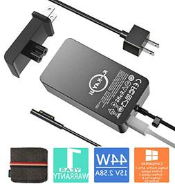 Surface Pro Surface Laptop Charger, 44W 15V 2.58A Power Supp