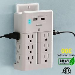 Aduro Surge Wall Charging Tower w/ 12 Outlets & Dual USB Por